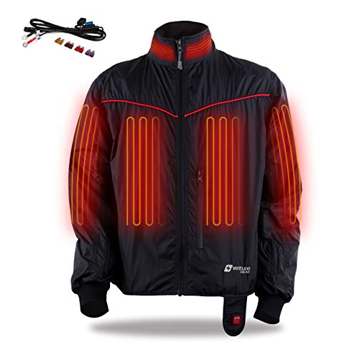 Venture Heat 12V Motorcycle Heated Jacket Liner - The 3.5A Lite Packable Liner, Unisex (L)