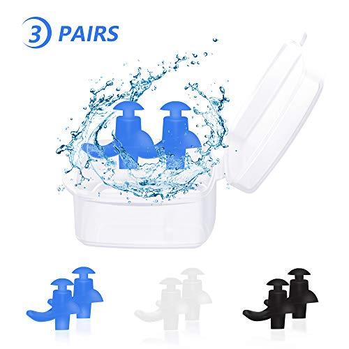 Trcviove UTT Spiral Swimming Earplugs Waterproof Silicone Ear Plugs Swimming
