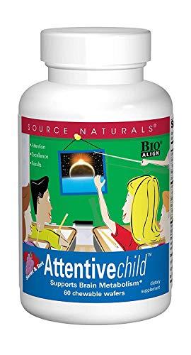 Source Naturals Attentive Child, Enhances Mental Concetration,60 Wafers