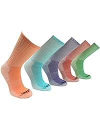 Womens Merino Wool Colorful Hiking Socks (3 PK)