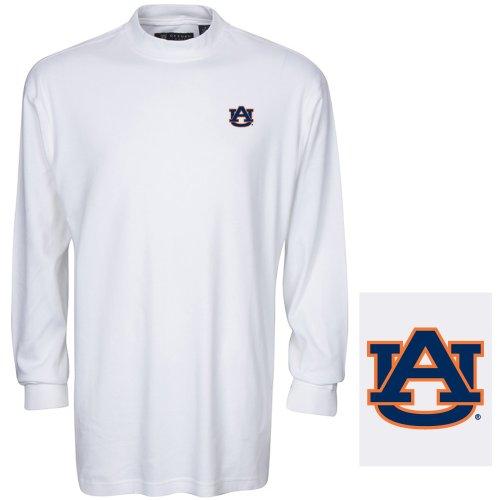 NCAA Auburn Tigers Men's Carlow Mock Turtleneck, White, XX-Large
