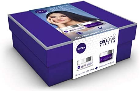 NIVEA Pack Hyalurron Cellular Filler Crema Antiedad Día FP30 y Crema Noche - Cofre: Amazon.es: Belleza