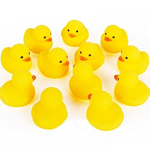 Tiny Mini Yellow Rubber Bath Ducks for Child (Mini Rubber)