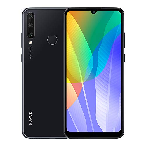 """Huawei Y6p Smartphone with 6.3"""" Dewdrop Display(3 GB RAM+64 GB ROM, Octa-core Processor, 13MP Triple Camera, ultra wide angle lens, 5000 mAh Large Battery), Black"""