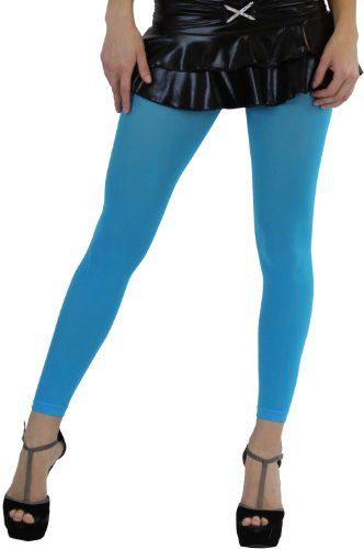 ToBeInStyle Women's Leggings Ankle Long Elastic Tights - One Size - Turquoise ()