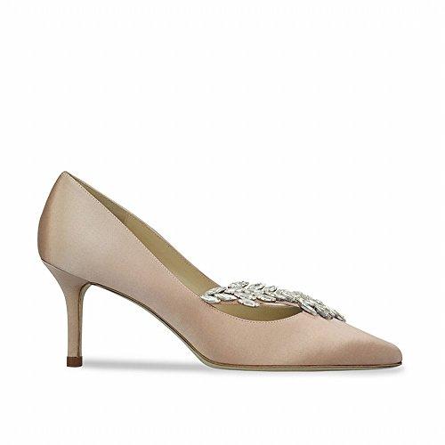 de Tacón de Verano Honor Zapatos Segundo con Alto de Pequeños Zapatos DIDIDD Novia Inclinado de 37 Zapatos Dama Superficial wfxq7w
