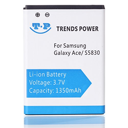 ACE Battery 1350mAh Li-ion Rechargeable Replacement Battery for Samsung S5830 Galaxy Ace , GT-B7510 Galaxy Pro , GT-S5660 Galaxy Gio , GT-S5670 Galaxy Fit , EB494358VU (one battery) Battery for Samsng GT-EB494358VU Galaxy Ace S5830 | GT-S5660 Galaxy Gio (1350mah Lithium Ion Battery)