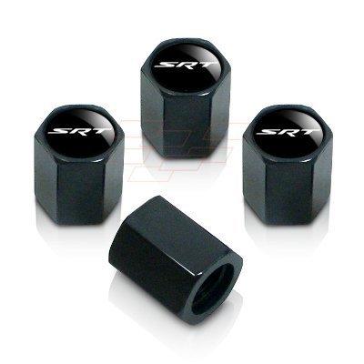 Dodge Black SRT Logo Tire Stem Valve Caps