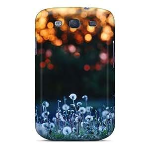 Flexible Tpu Back Case Cover For Galaxy S3 - Flowers Meadow Bokeh Dandelions