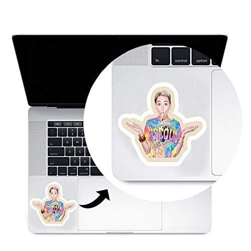 Miley Cyrus Trackpad Decal Sticker Laptop MacBook Compatible with All MacBook Pro, Clear Printed Decal Sticker - Cyrus Miley Proof
