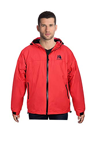 Navis Marine Salt Jacket Waterproof for Men Women Sailing All Outdoor Sports Rain Coat Warm Fleece Hoodie(Red/M) ()