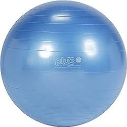 Gymnic Classic Plus Burst-Resistant Exercise Ball, Blue (65 cm)