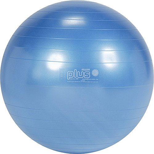 Gymnic Classic Plus Burst-Resistant Exercise Ball, Blue (65 cm) by Gymnic