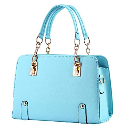 Tracolla Totebag Lightblue Tracolla Borsa Yxiaol Lady A Fashion black Chain aqpEx4fw