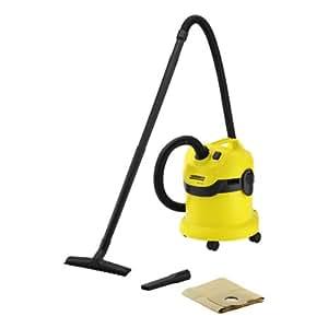 Kärcher WD 2.200 - Aspirador, 1200 W, 12 l, 370 x 340 x 430 mm, 4600 g, color negro y amarillo