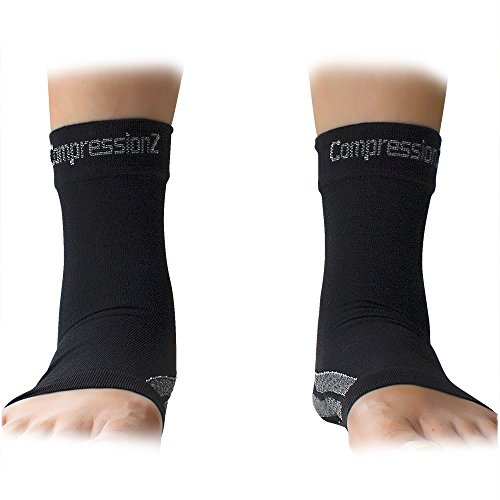 Foot-Sleeves-1-Pair-Best-Plantar-Fasciitis-Compression-Sock-for-Men-Women-Heel-Arch-Support-Ankle-Sock-Great-for-Hiking-Better-feel-than-Copper-Fit