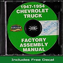 1947-1954 Chevrolet Pickup Truck Factory Assembly Manual CD (with Decal)