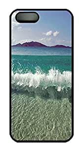 iPhone 5 5S Case Here Come The Waves! PC Custom iPhone 5 5S Case Cover Black