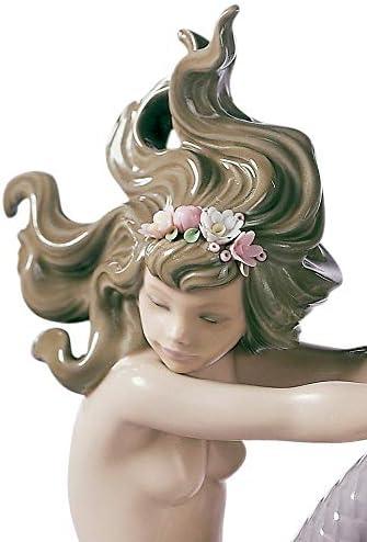 LLADR Illusion Mermaid Figurine. Porcelain Mermaid Figure.