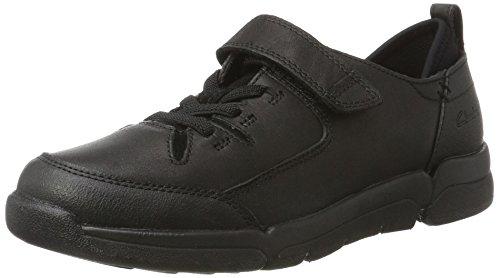 Clarks Tri Buddy Jnr, Zapatillas para Niños Negro (Black Leather)