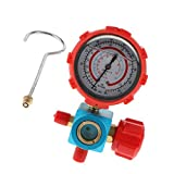MagiDeal Fluoridation Valve Single Gauge Automobile Air Conditioning Colds Coal Meter Oil Gauge with Mirror