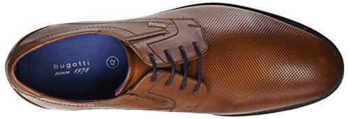 Bugatti 311253052100, Scarpe Stringate Derby Uomo Marrone (Cognac)