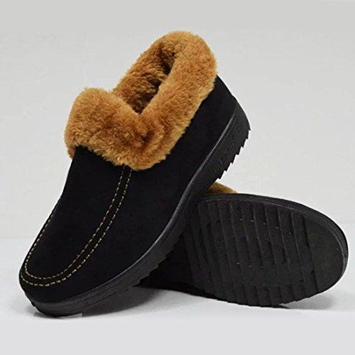 O Snow On Lined Women Shoes Warm Slip Black amp;N Boot Fur Winter wCC4tqr