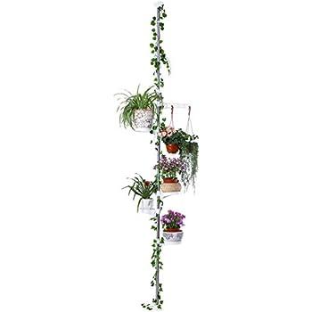 Amazon Com Baoyouni 5 Tier Tension Rod Plant Holder Pole