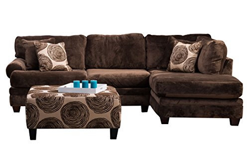 Albany Sectional - Channing Microfiber Sectional
