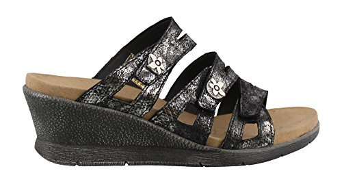 Romika of Germany Women's Nevis 04 Wedge Sandal, Black, 3...