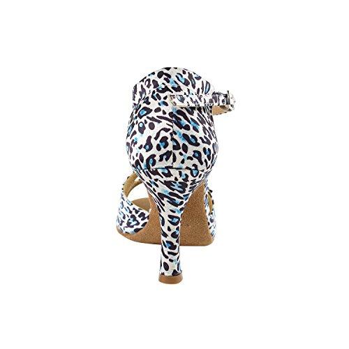 50 Tinten Animal Print Dansjurk Schoenen Collectie, Bruiloft Pumps: Dames Comfort Ballroom Schoenen Voor Latin, Tango, Salsa, Swing, Theather Kunst Door Party Party (2,5, 3 & 3,5 Hakken) Sera1620 Blauwe Luipaard & Steen