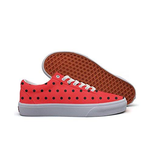 Cute Ladybug Women's Casual Shoes Sneakers Flat Lo-Top Cute Simple -