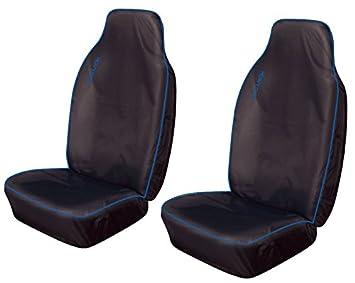 2 x Fronts For Skoda Fabia Heavy Duty Black Waterproof Car Seat Covers