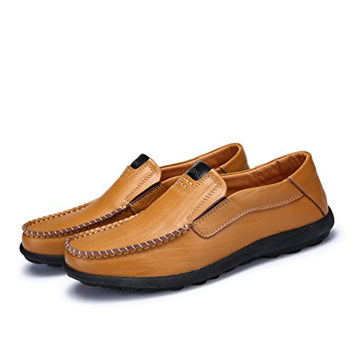 Sherry Love Loafers Men's Casual Style Slip-On Loafer-Brown-46 EU by Sherry Love (Image #5)
