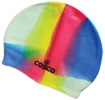 c46f99dc56e8 Buy Cosco 25003 Silicone Swimming Cap (Multicolor) Online at Low Prices in  India - Amazon.in