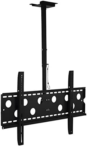 Mount-It TV Ceiling Mount, Full Motion Height Adjustable Swivel Tilting Bracket for 42, 45, 47, 49, 50, 55, 60, 65, 70, 75, 80, 85, 90 Inch, TVs 220 Lbs Capacity
