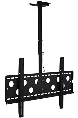 Mount-It! TV Ceiling Mount, Full Motion Height Adjustable Swivel Tilting Bracket for 42, 45, 47, 49, 50, 55, 60, 65, 70, 75, 80, 85, 90 Inch, TVs 220 Lbs - For Mount Screen Ceiling Flat Tv