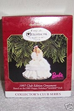Hallmark Keepsake Ornament Collector's Club 1997 Club Edtion Barbie Ornament