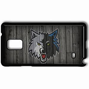 Personalized Samsung Note 4 Cell phone Case/Cover Skin 15011 timberwolveswp8sm Black