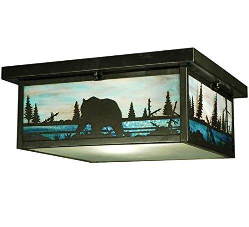- Meyda Tiffany 136988 Bear Creek Flush Mount Light Fixture, 16 sq. in.