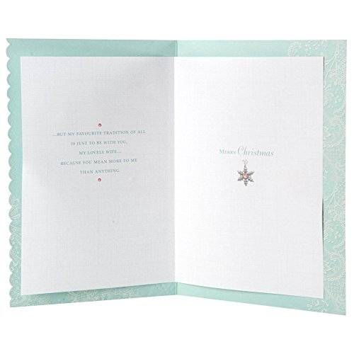 Beautiful Wife at Christmas, Christmas Greetings Card