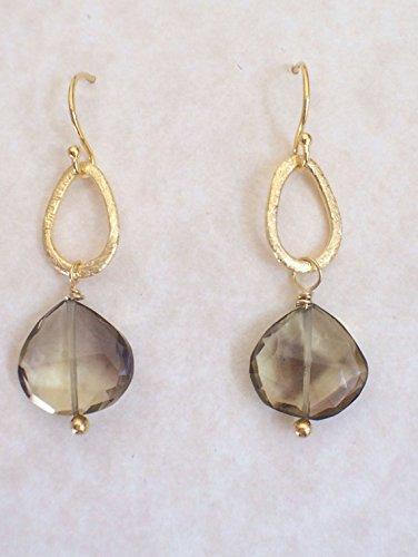 - Tourmaline drop earrings with gold vermeil loops