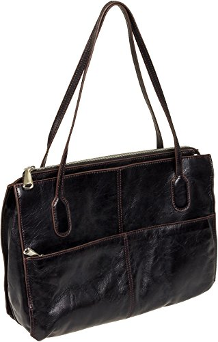 Hobo Friar Shoulder Bag Black Vintage Leather One Size