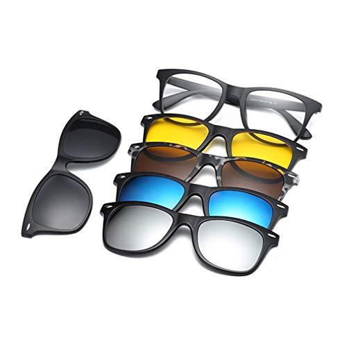 (Magnetic Glasses Clip-on Sunglasses For Men Women Night Driving C3)