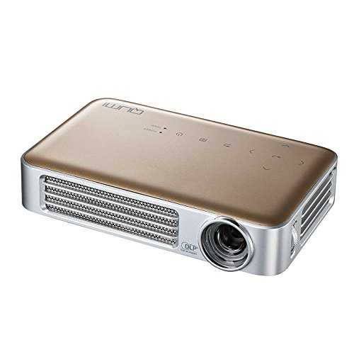 Vivitek Qumi Q6-GD Q6 800 Lumen WXGA LED MHL HDMI Projector with Wireless and Miracast Capability (Gold) by Vivitek