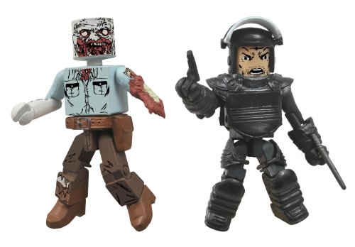 DIAMOND SELECT TOYS Walking Dead Minimates Series 3 Riot Gear Rick and Guard Zombie Action Figure]()