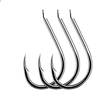100 Pcs Fishing Hooks Set Carbon Steel Single Circle Fly Fishing Jip Barbed Carp