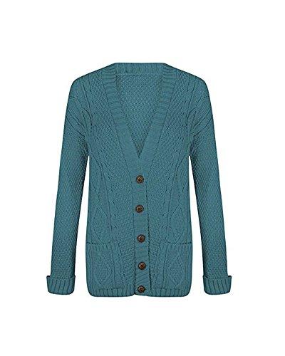 Gilet sarcelle bleu Femme Classy Fashion 4fAgaa