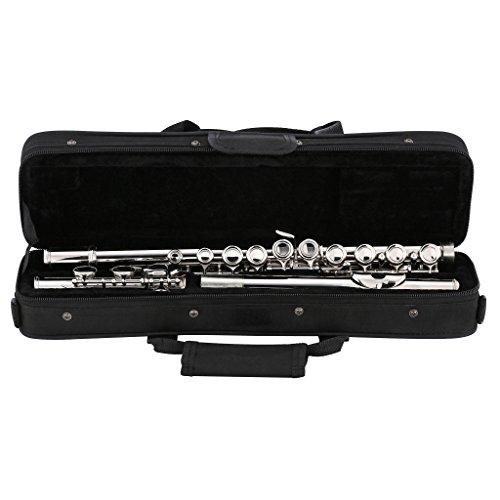 Kaizer Flute C Key 1000 Series Closed Hole Nickel Silver New 2018 Model Student Flute FLT-1500NK