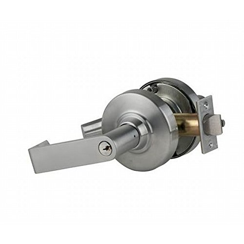 Schlage commercial ND53PDRHO626 ND Series Grade 1 Cylindrical Lock, Entry Function Turn/Push-Button Locking, Rhodes Lever Design, Satin Chrome Finish by Schlage Lock Company
